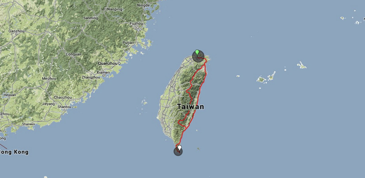 Roadtrip Map Taiwan