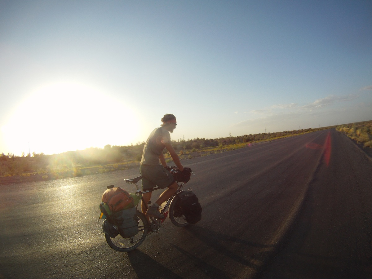 Erik Ohlson Cycling in Central Asia