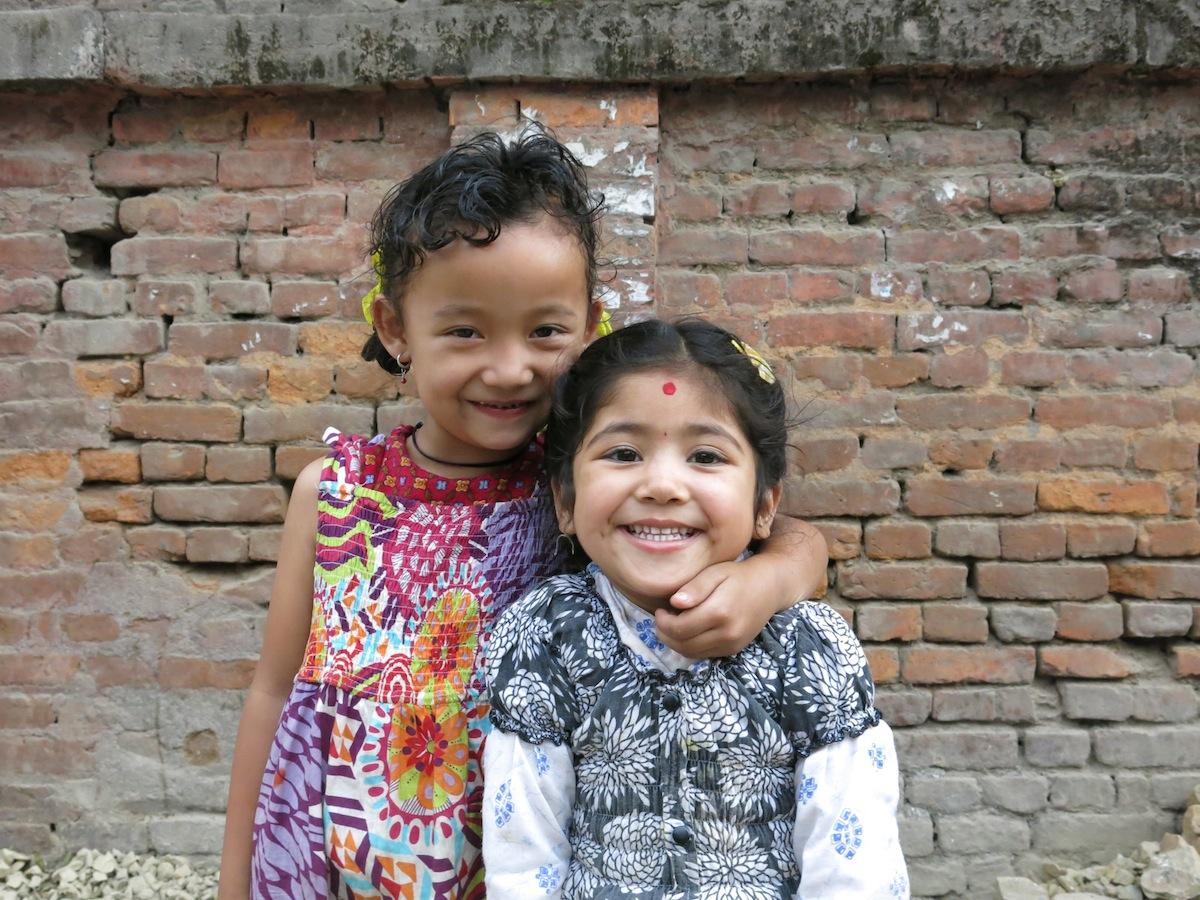 Two girls in Kathmandu