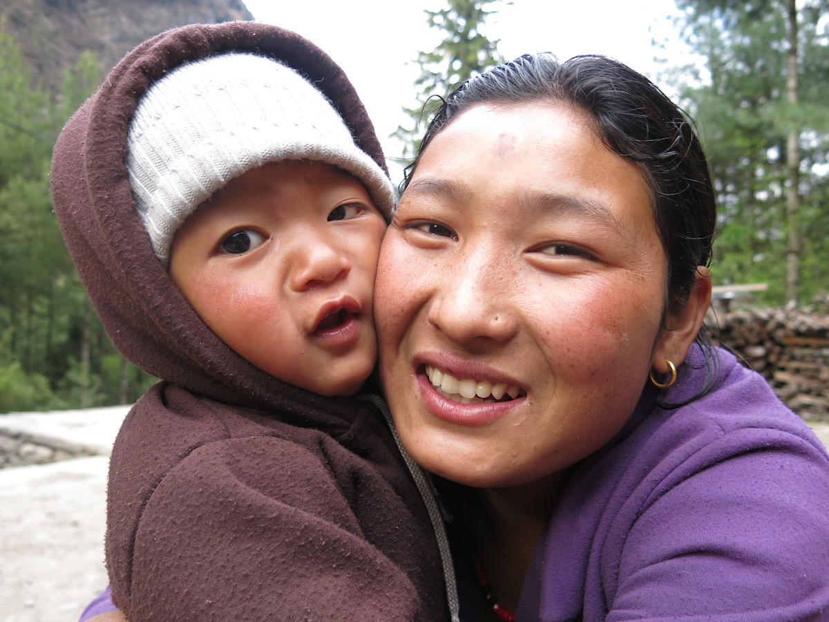 Mother with child Nepal