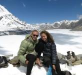 Erik Ohlson och Nicole Ahne Tilicho Lake