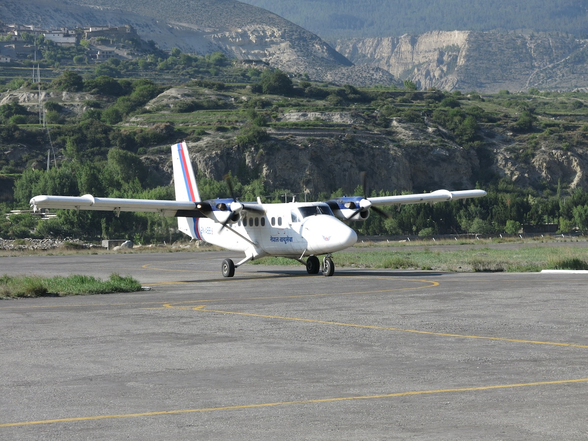 Nepal Airlines in Jomsom Airport