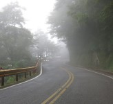 Misty road Taiwan