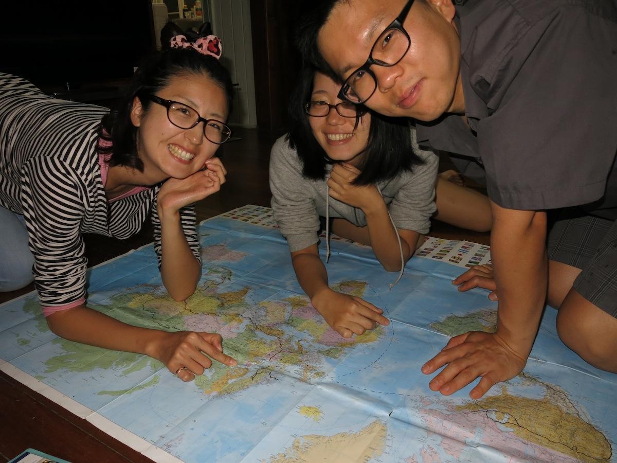 Mayuko, Mio and Mark