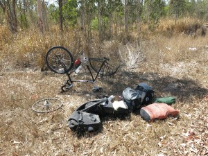 Flat tire Cycling Australia