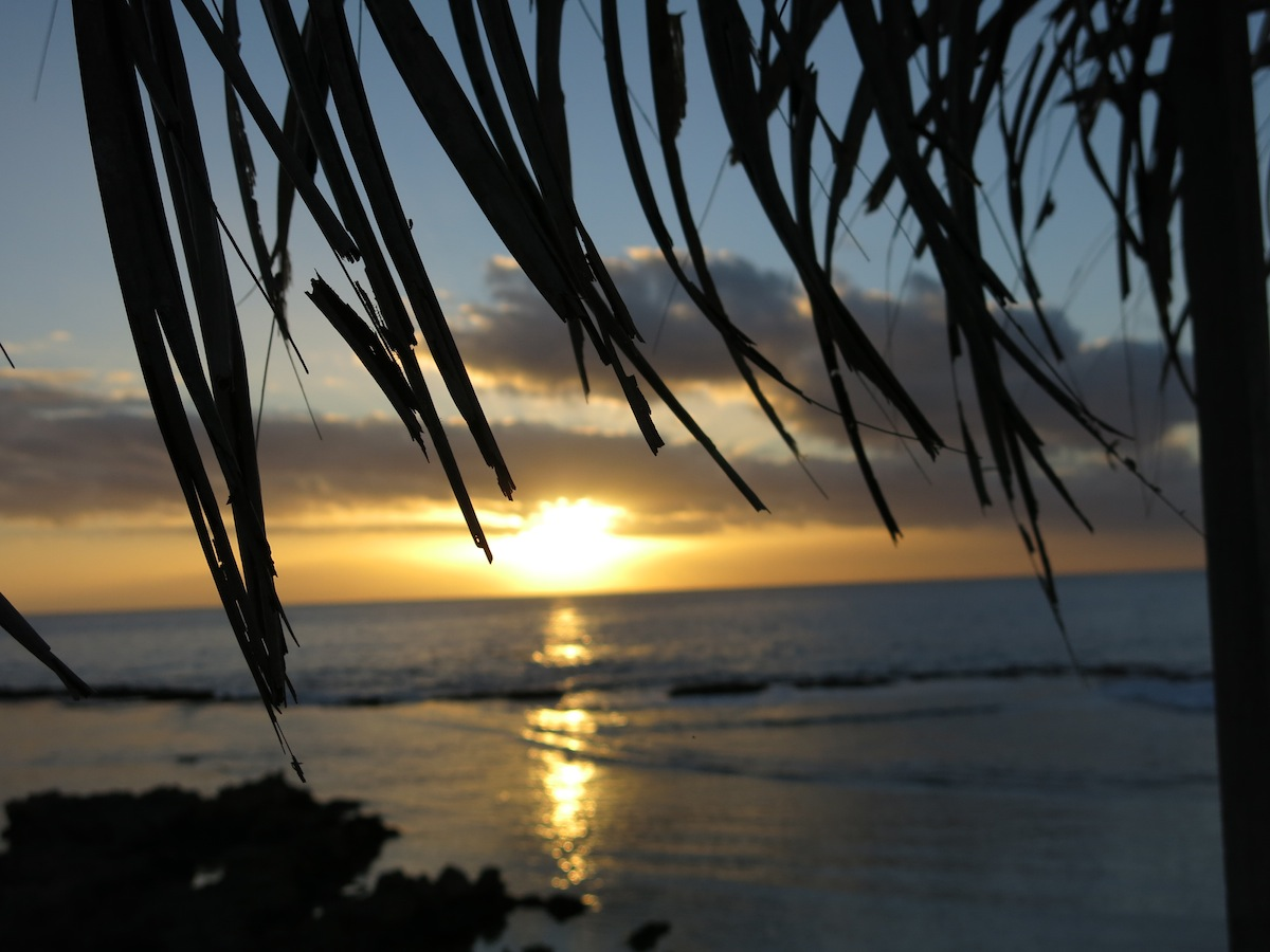 Sunset on Eua, Tonga
